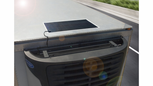 Carrier Transicold offers solar panels for trailer refrigeration systems