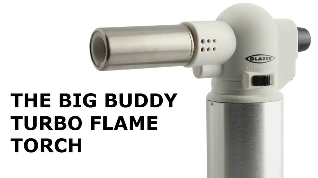 The Blazer Products Big Buddy Butane Refillable Turbo Torch Video