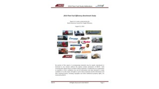 2014 fleet fuel efficiency benchmark study