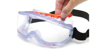 Cyclone impact-to-splash goggles