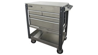 "35"" Stainless Steel 4-Drawer Service Cart"