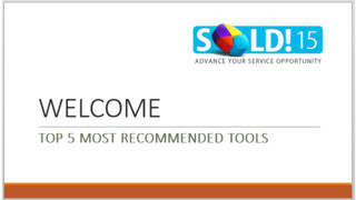 SOLD15 presents top five most recommended tools and equipment from technicians