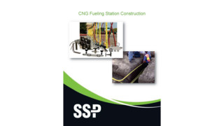 CNG fueling station construction