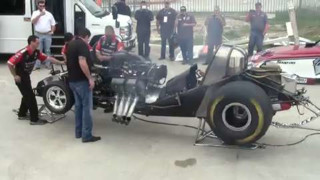 Nitro Funny Car start up