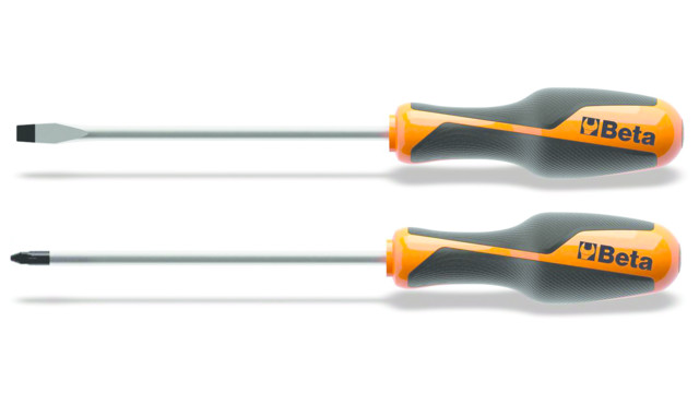 Beta Grip Phillips and Slotted Screwdrivers, Nos. 1262 and 1264