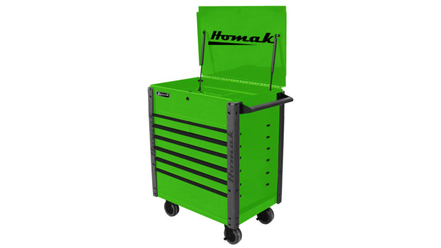 "35"" 7 Drawer Flip-Top Service Cart"