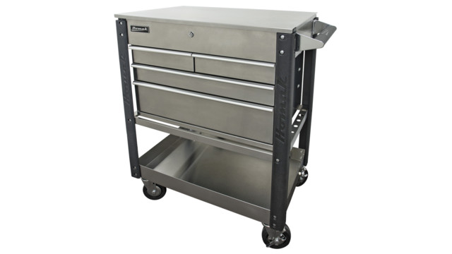 """35"""" Stainless Steel 4-Drawer Service Cart"""