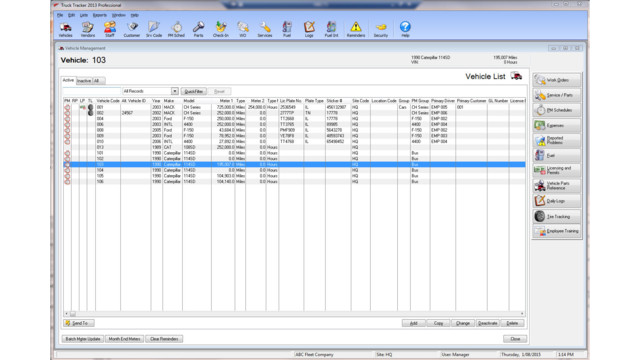 Fleet Maintenance and Inventory Management system