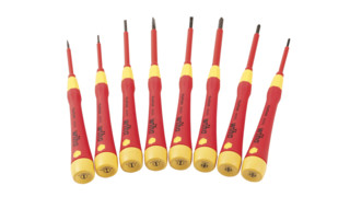 Insulated 1000V Slotted and Phillips PicoFinish Screwdrivers