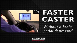 Hunter Engineering Co. Faster Caster alignment measurement Video