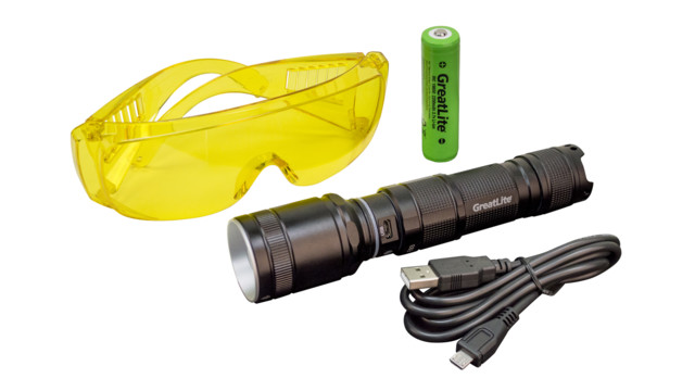 USB Rechargeable UV Light with Safety Glasses, No. EXPE93-E02