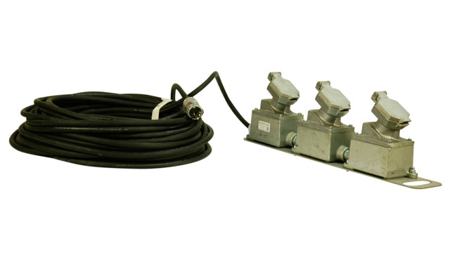 Triple Receptacle Explosion Proof Extension Cord, No. EPECX-3X-100