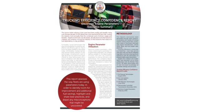 Trucking Efficiency confidence report: electronic engine parameters executive summary