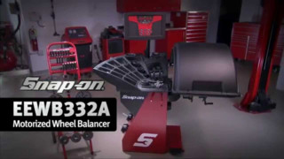 Snap-on Motorized Wheel Balancer with Raised Display Video