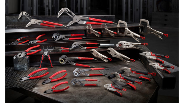Line of fastening and cutting pliers