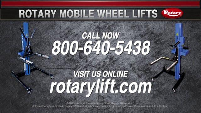 Rotary Mobile Wheel Lift Video
