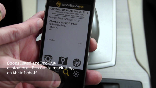 Pro-Cut Smoothride iPhone app Video