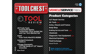 VehicleServicePros.com Tool Chest app features tool reviews, now available for Android tablets