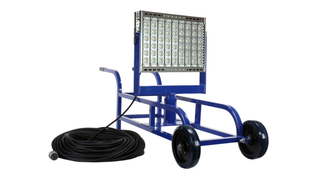 400 Watt Portable Work Area LED Light Cart, No. WAL-WBC-400LTL-LED-100