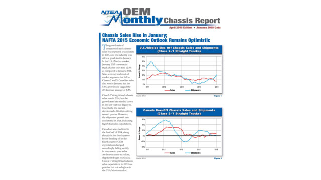 OEM Monthly Chassis Report: Chassis sales rise in January; NAFTA 2015 economic outlook remains optimistic