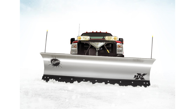 Stainless Steel HDX straight blade snowplow