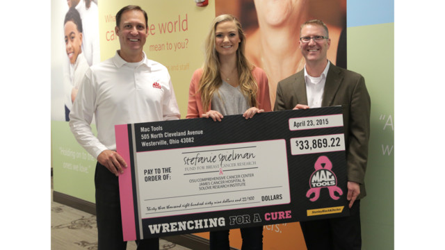 Mac Tools helps raise Breast Cancer awareness with Wrenching for a Cure campaign