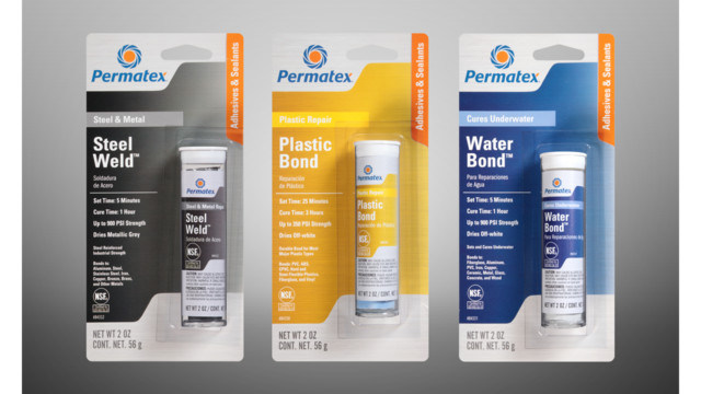 Permatex increases line of epoxy sticks with three products