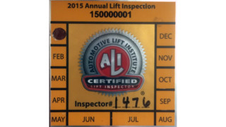 Two-hundred ALI annual inspection labels stolen