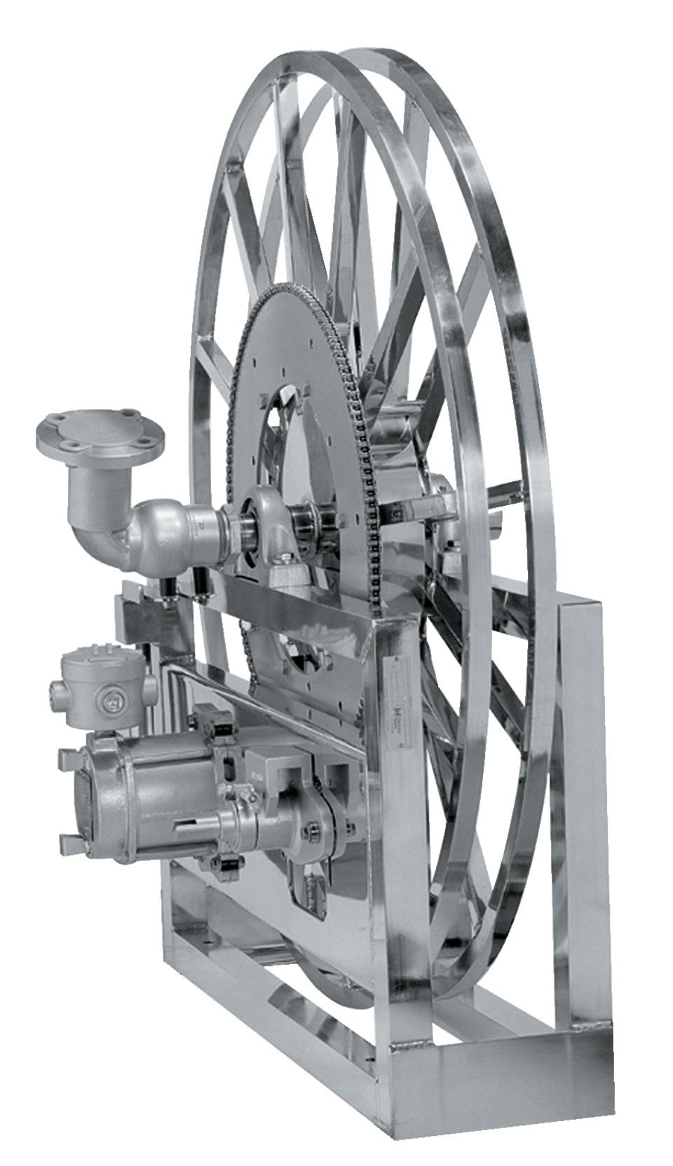 Hannay reels 5000 series single wrap reel in hoses and reels for Hannay hose reel motor