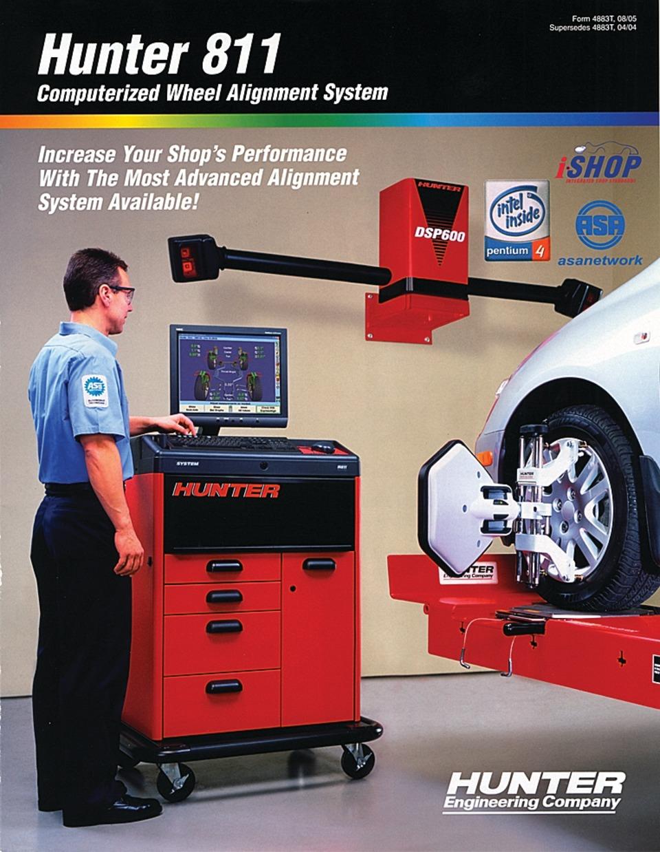 hunter engineering company brochure on hunter 811 system in training rh vehicleservicepros com Hunter DSP600 Software Information Hunter DSP600 Software Information