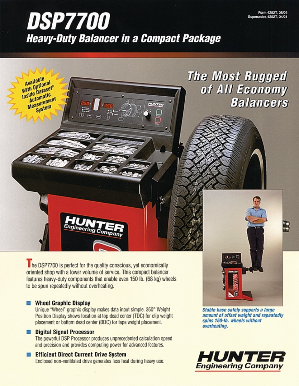 Hunter Engineering Company DSP7700 Wheel Balancer Literature in Training  Catalogs, Manuals, Brochures