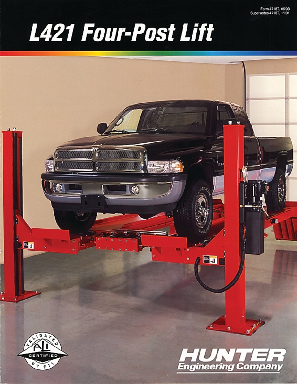 Hunter Alignment Rack >> Hunter Engineering Company L421 Alignment Lift Brochure In Training