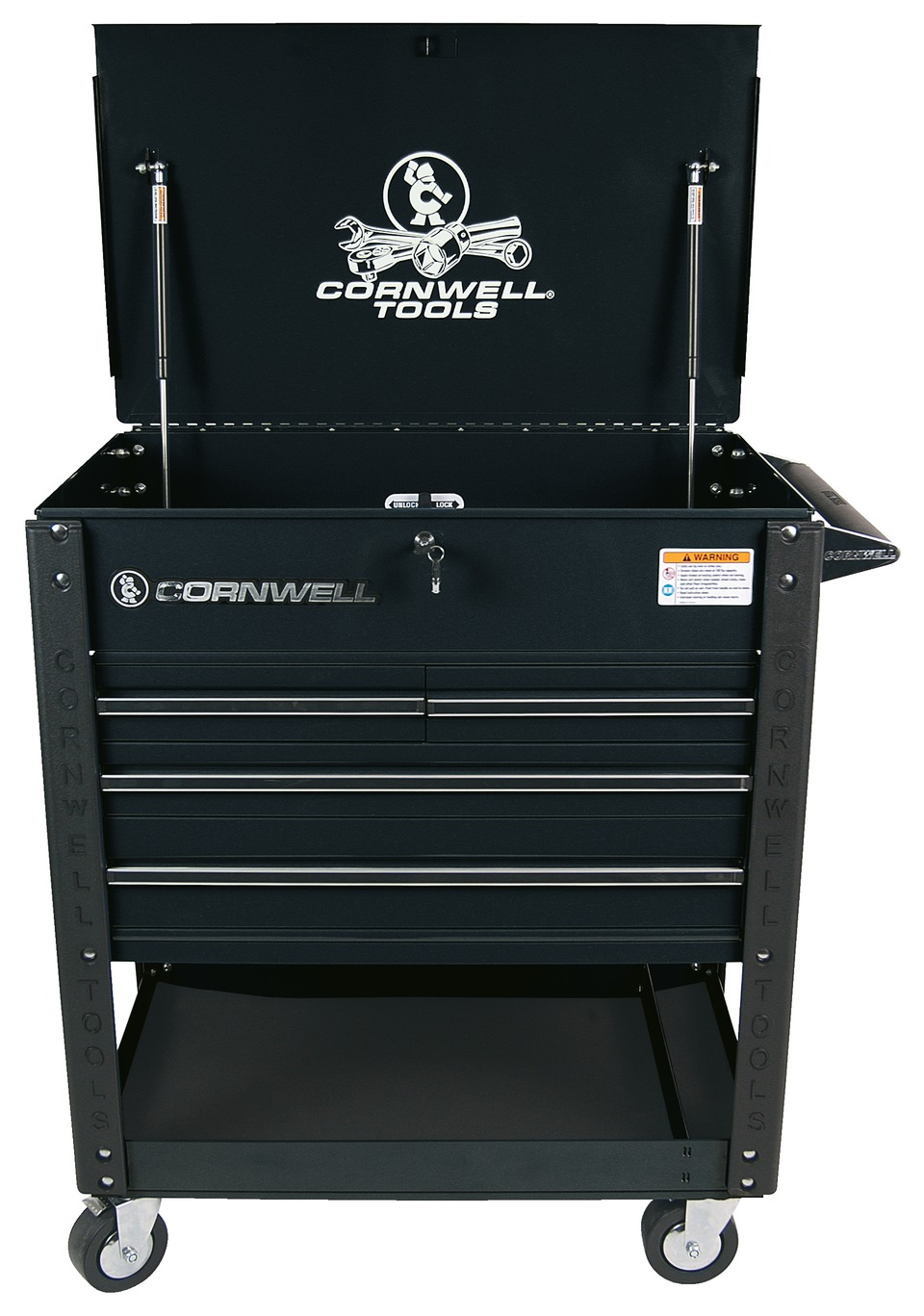 pro series service cart cornwell quality tools