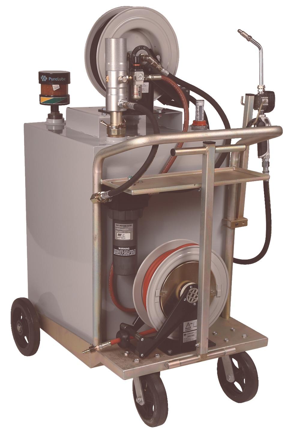 Liquidynamics mobile cart system in shop equipment for Parlour equipment