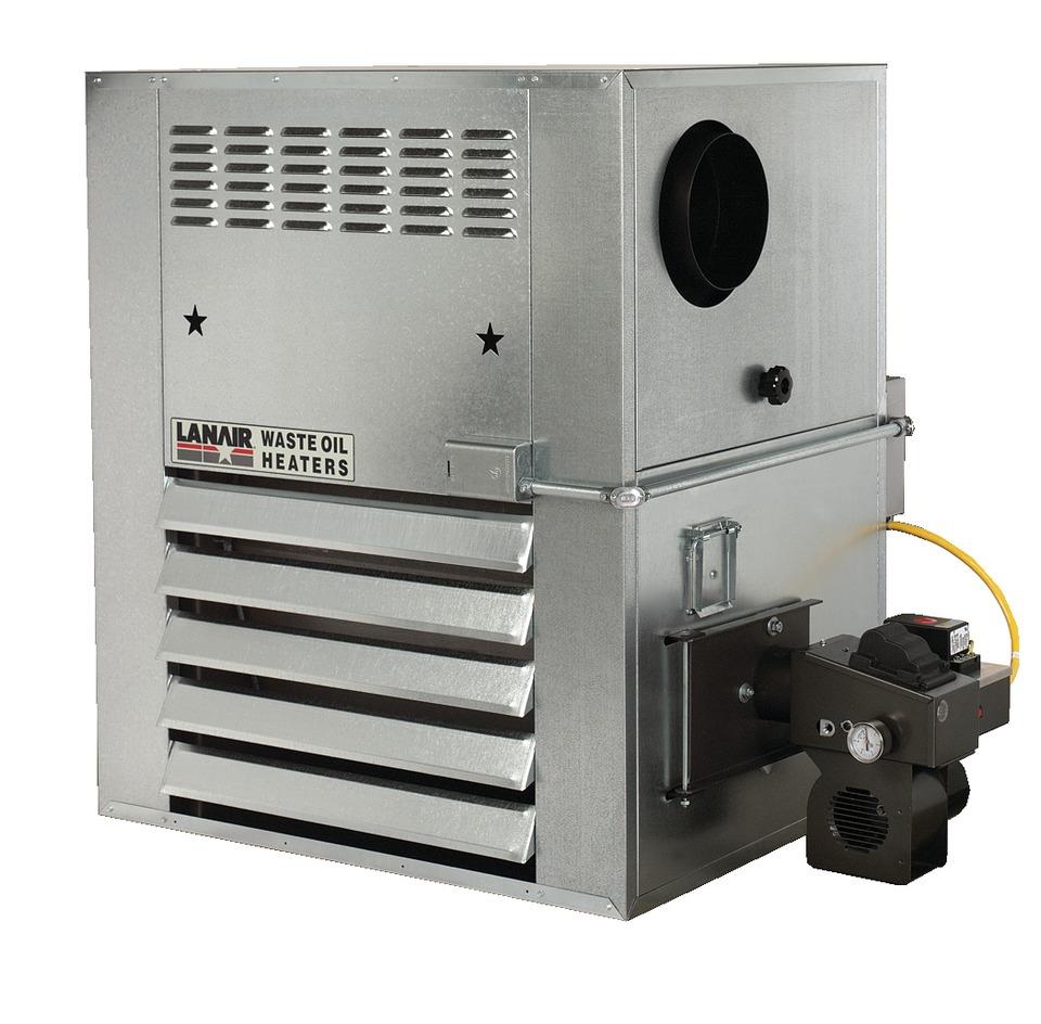 Lanair Products Llc Model Hi 180 Waste Oil Heater In Shop