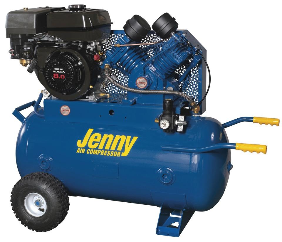 Jenny products inc gt series compressors in shop compressors for Honda air compressor motor parts