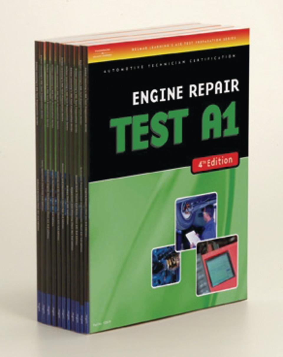 Chilton delmar cengage learning ase test preparation manuals technicians seeking certification in any one of the ase exam areas will benefit from the prep materials offered by delmar booklets cover the a1 a9 l1 p2 xflitez Images