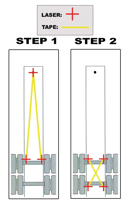 E Z Red Co E Z Line Laser Wheel Alignment Tool In Tire