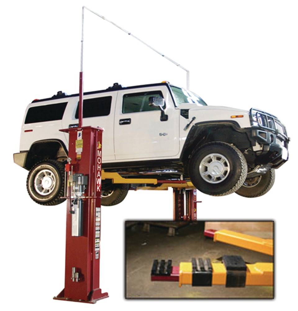 Swing Arm Lift For Pickup : Mohawk lifts swing arm lifting pads in lift accessories