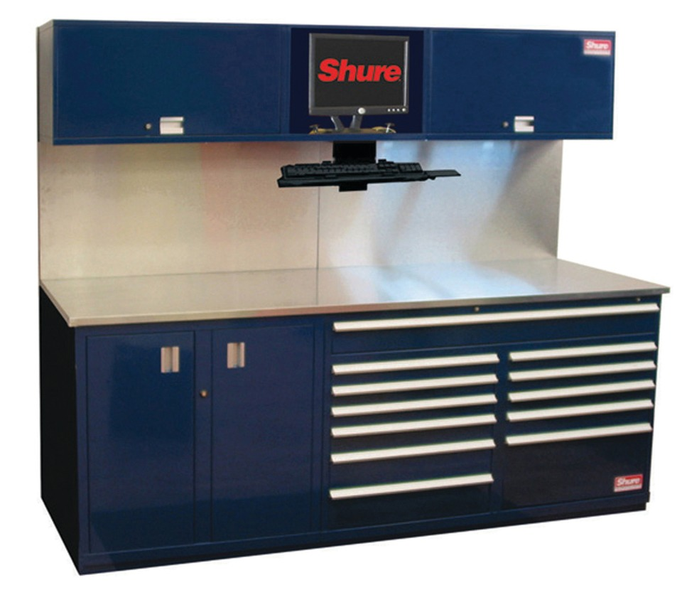 Shure mfg corp shuretech bench systems in modular storage for Bench tool system