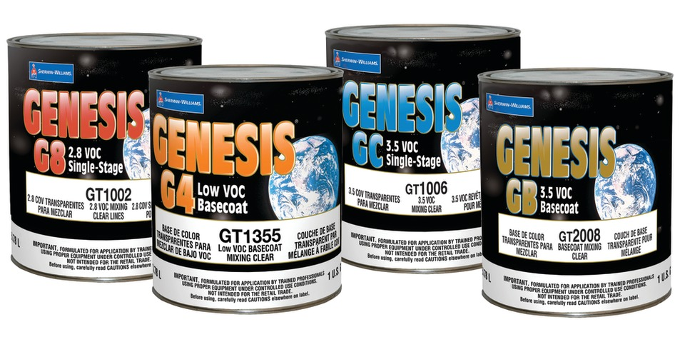 Sherwin Williams Auto Finishes Genesis G4 Basecoat System