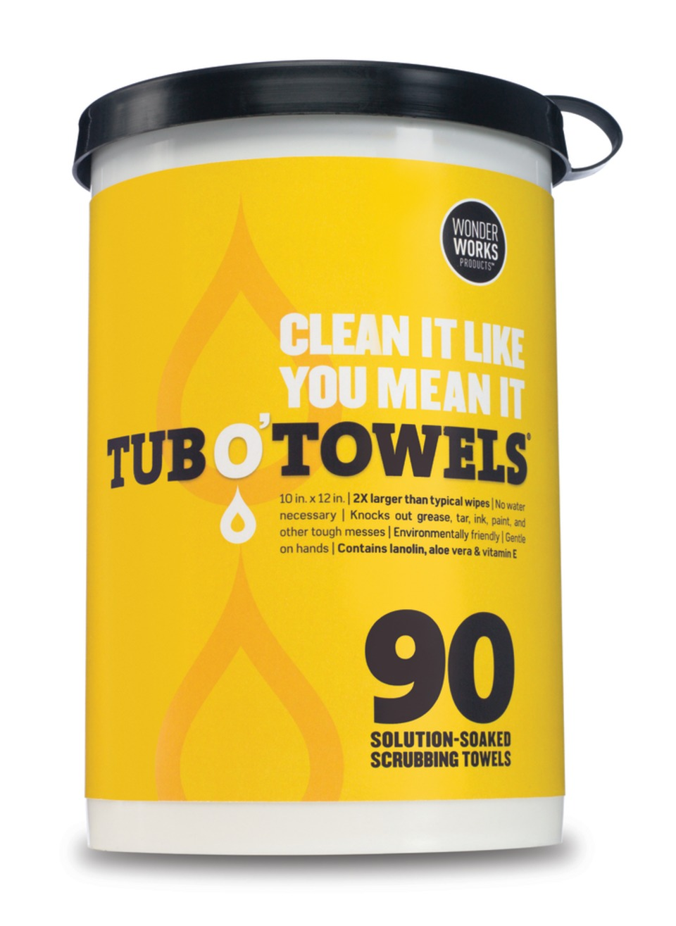 Wonder Works Products Tub O Towels Cleaning Towels In