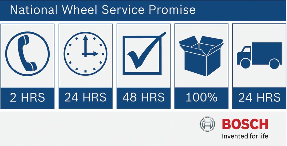 Bosch National Wheel Service Promise and technical support hotline ...