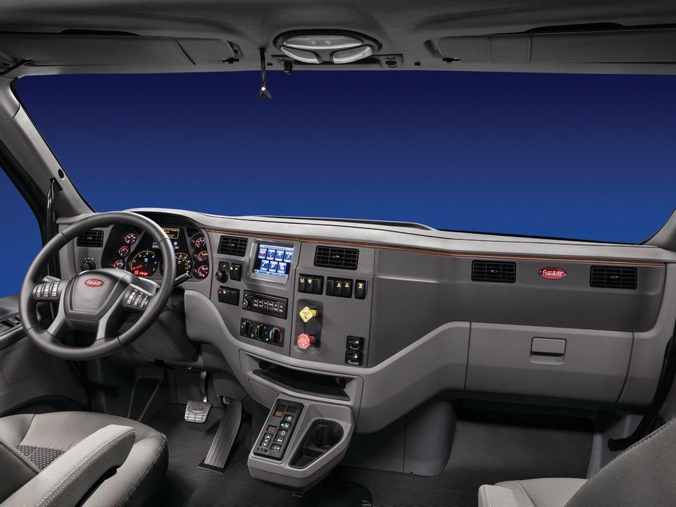 Peterbilt makes enhancements to Model 587's interior