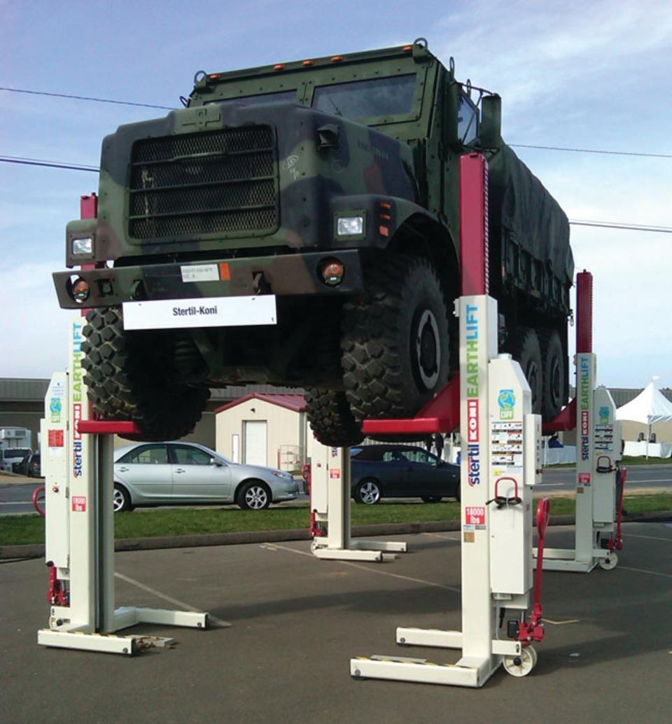 Stertil Koni Usa Earthlift Wireless Mobile Column Lift No