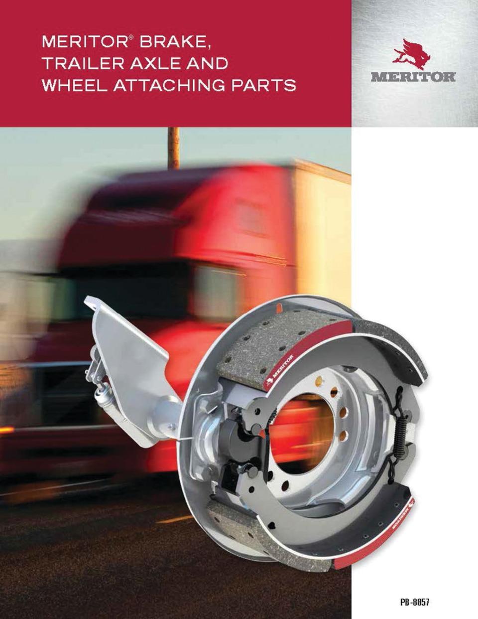 Meritor Inc  Aftermarket parts catalog, No  PB8857 in