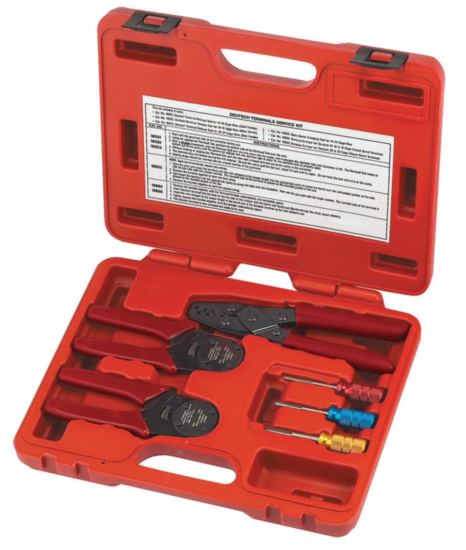 In Focus Sg Tool Aid 18650 Deutsch Terminals Service Kit Wiring Connectors The Release Tools Have Color Coded Handles To From Show Caption Hide