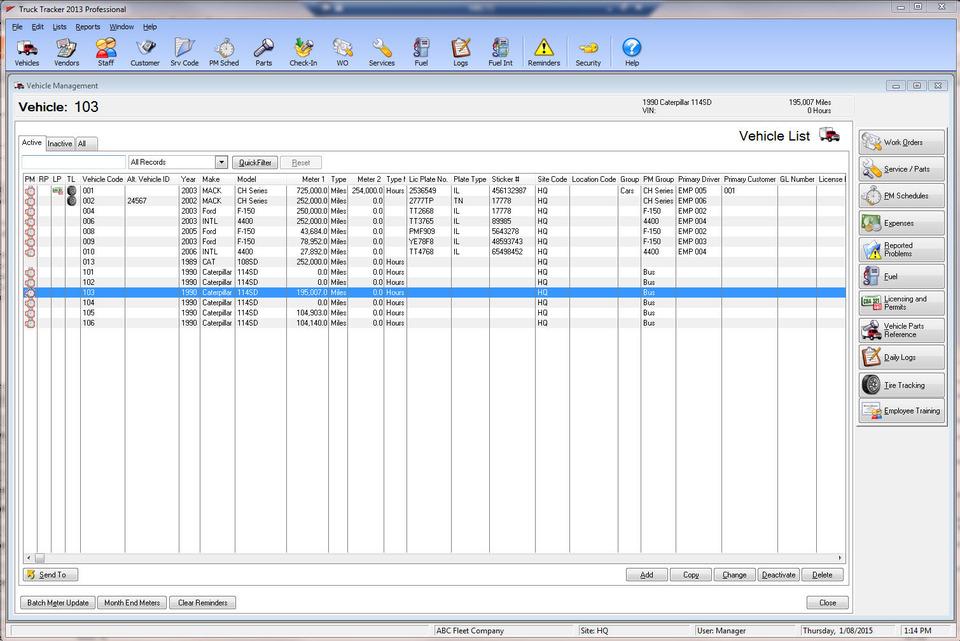FleetSoft Fleet Maintenance and Inventory Management system