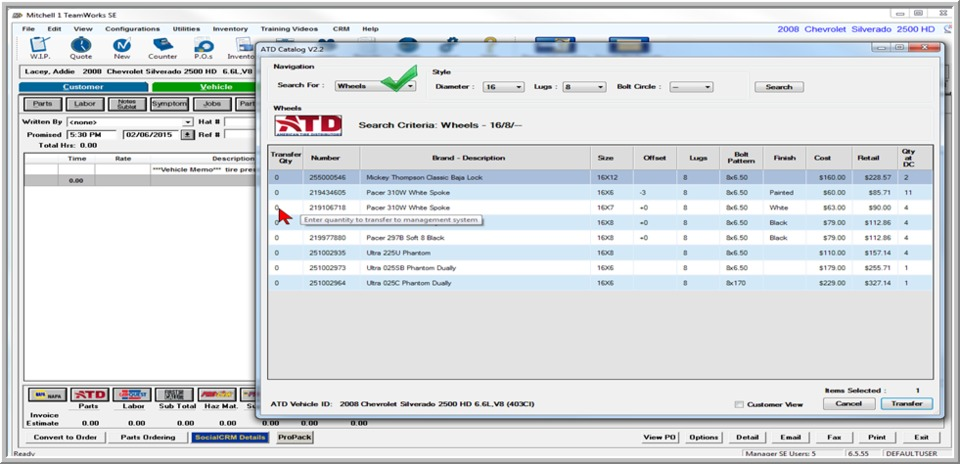 Mitchell 1 Manager Se Tire Catalog Integration In Computers And Software
