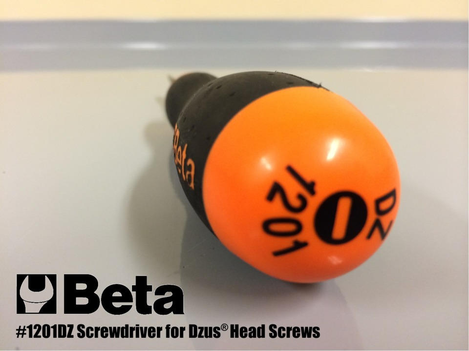 Beta Tools Screwdriver for Dzus Type Fasteners, No  1201DZ
